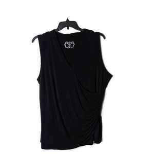 Avenue Faux Wrap Sleeveless Special Tee
